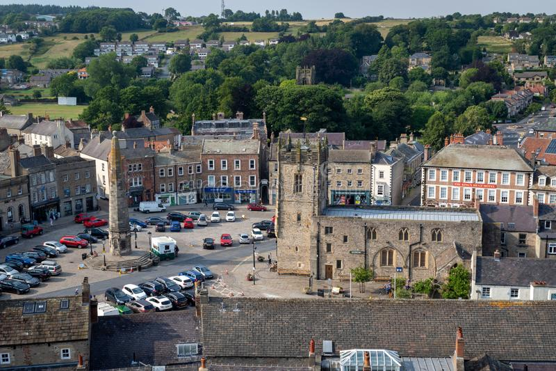 Vue de Richmond - un bourg dans North Yorkshire a fondé dans 1 photographie stock