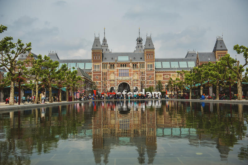 Vue de Rijksmuseum à Amsterdam photos stock