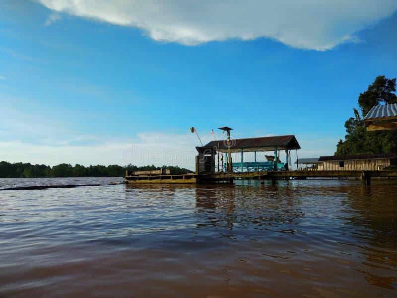 Vue de rivière images stock