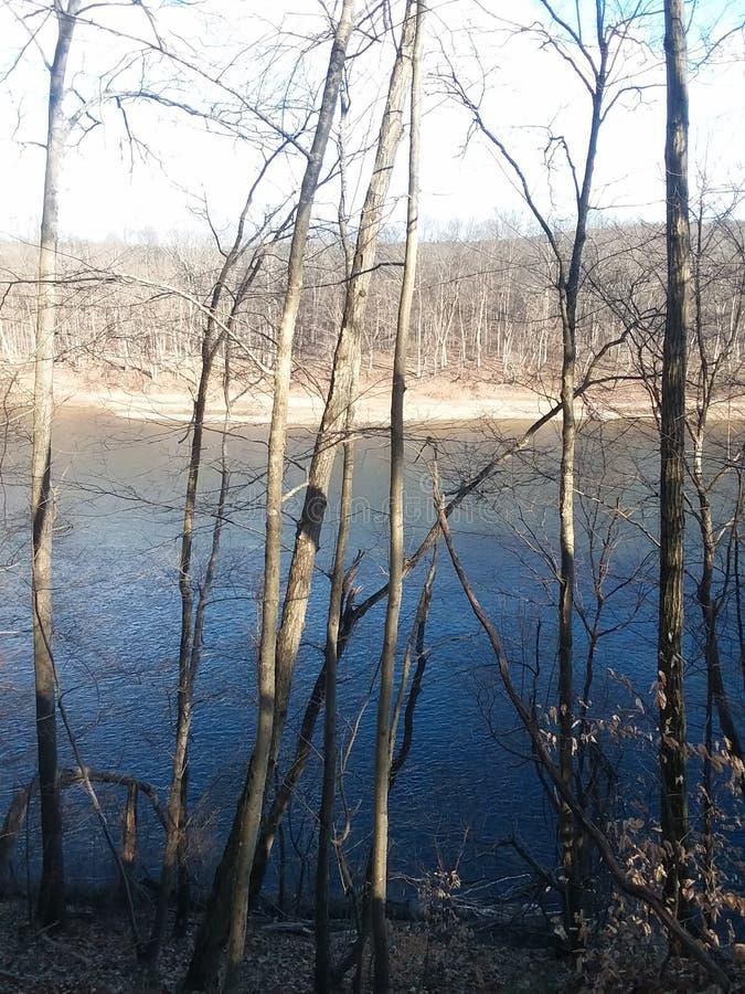 Vue de rivière photo libre de droits