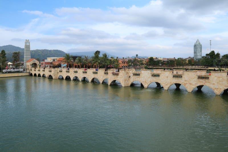 Vue de rivière photo stock
