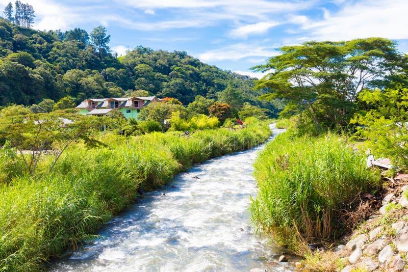 Vue de rivière de Boquete image stock