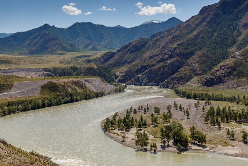 Vue de rivière de Chuya images stock