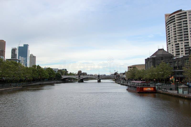 Vue de rivière de Melbourne photo stock