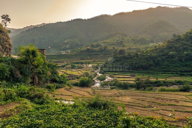 Vue de rivière de Ganga dans Uttrakhand photos libres de droits