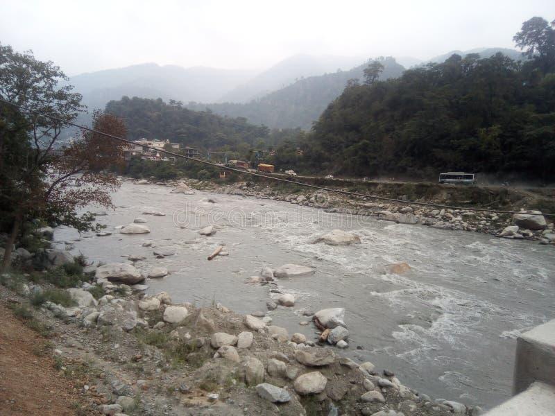 Vue de rivière de Ravi la meilleure image stock