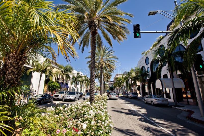 Vue de Rodeo Drive à Los Angeles images stock