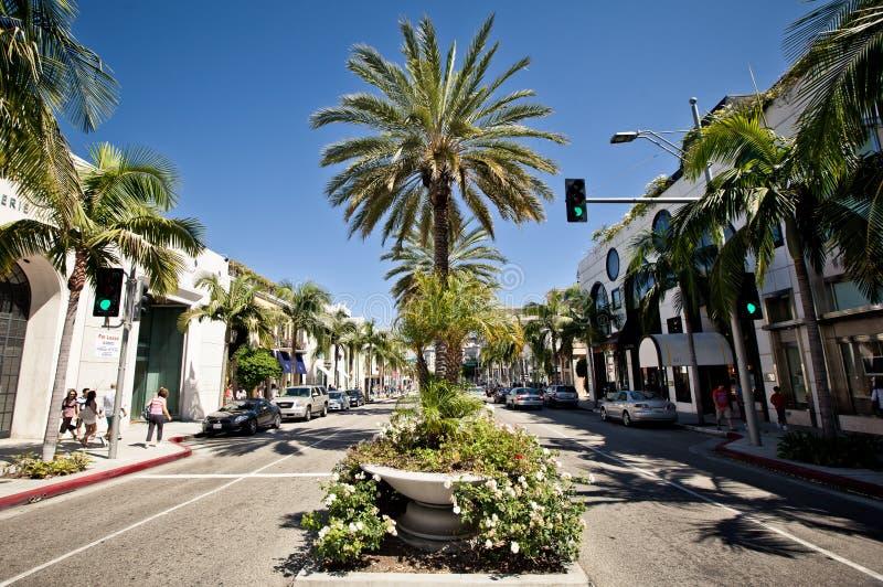 Vue de Rodeo Drive à Los Angeles images libres de droits
