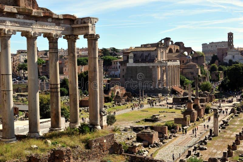 Vue de Roman Forum, Rome photos libres de droits
