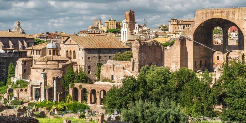 Vue de Roman Forum, Rome, Italie photo stock