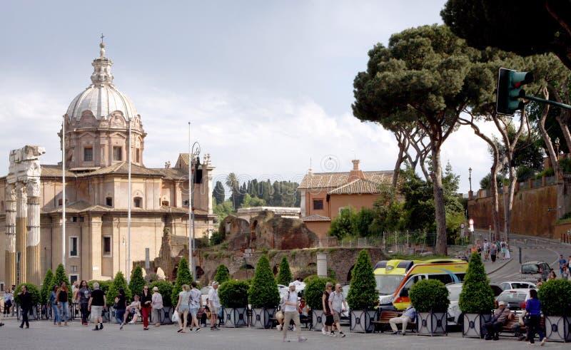Vue de Rome Italie images stock