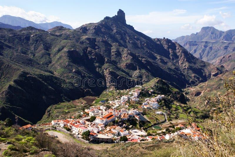Vue de Roque Nublo Gran Canaria, image libre de droits
