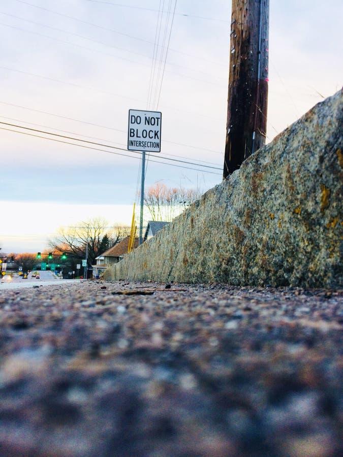 Vue de route photographie stock libre de droits