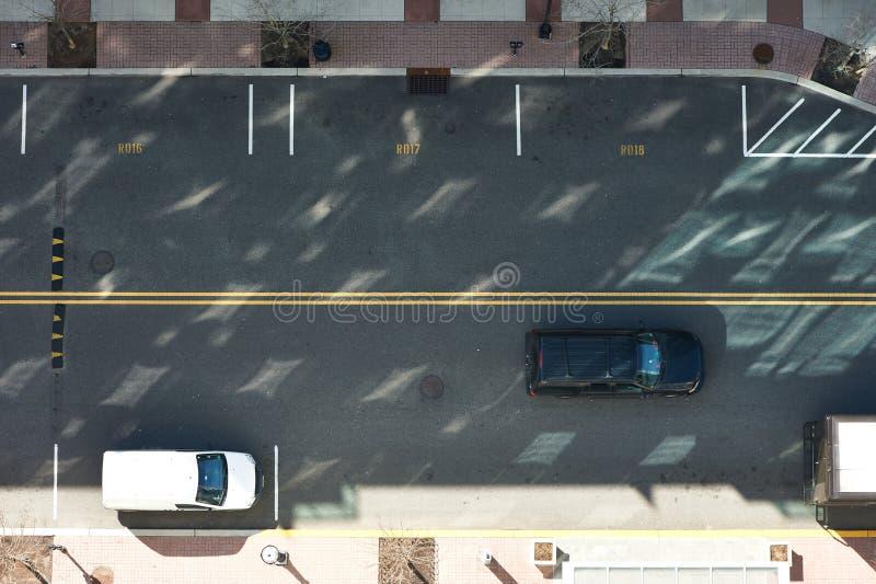 Vue de route de rue d'en haut photo stock