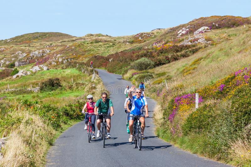 Vue de route de Skr en Irlande images stock