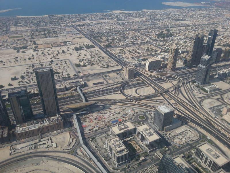 Vue de routes et de côte de Dubaï image stock