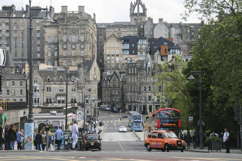 Vue de rue à Edimbourg, Ecosse photo libre de droits