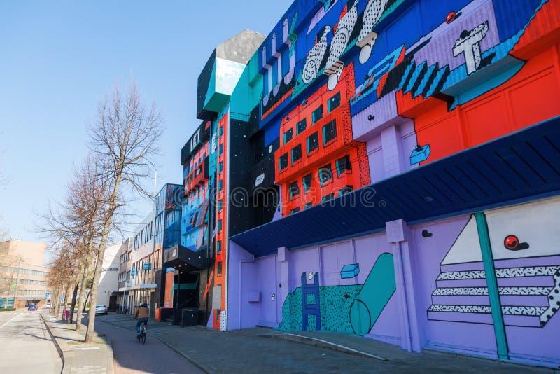 Vue de rue à Heerlen, Pays-Bas photo stock