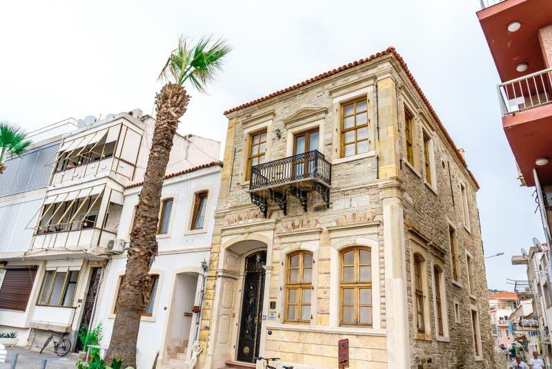 Vue de rue à la FOCA Izmir images stock
