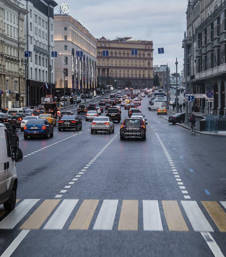 Vue de rue à Moscou photographie stock libre de droits