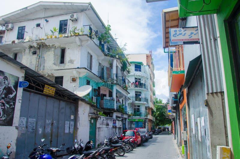 Vue de rue au mâle maldives photos libres de droits