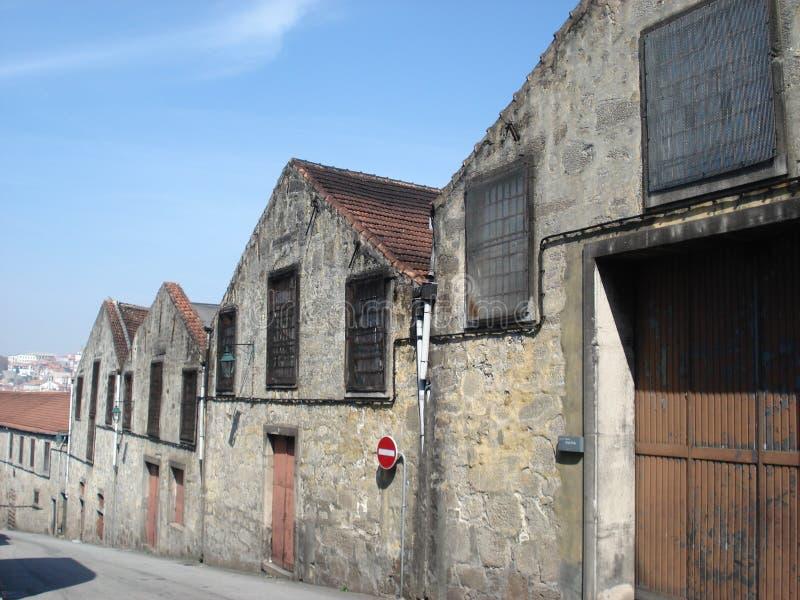 Vue de rue de caves de port, Porto Portugal images libres de droits