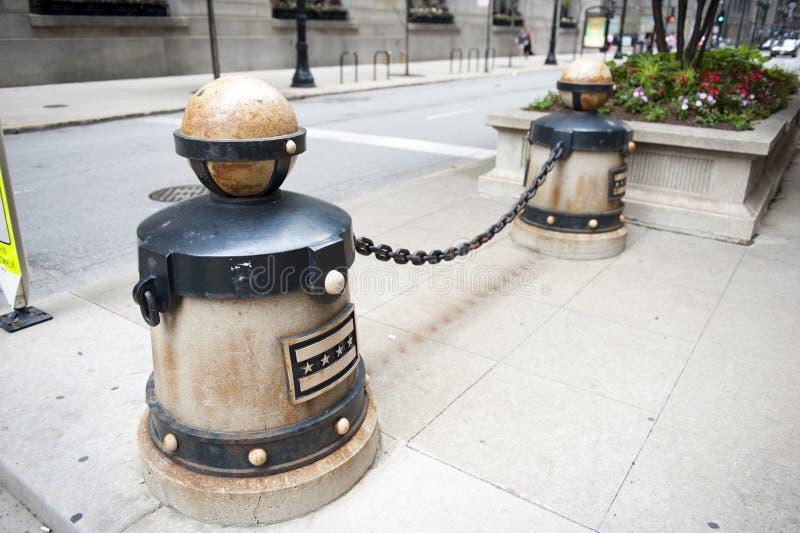 Vue de rue dans la ville de Chicago photos stock