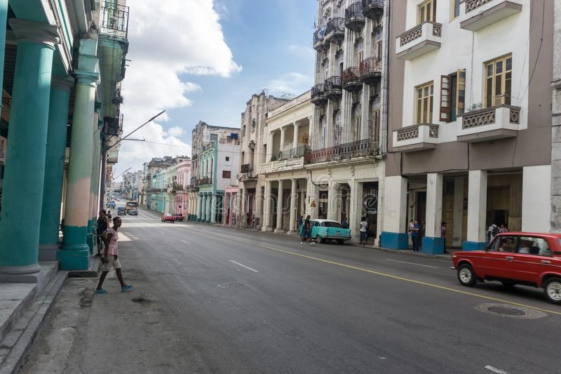 vue de rue dans le vieja de La Havane de La, Cuba image libre de droits