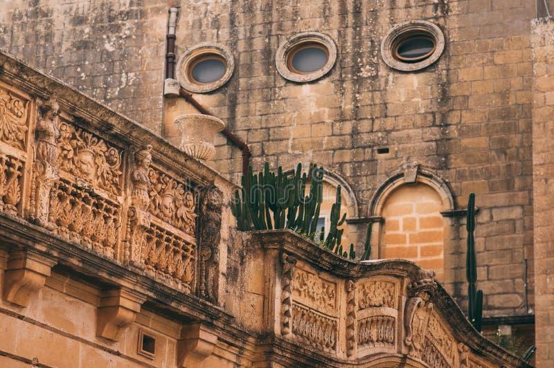 Vue de rue dans Mdina, Malte photos libres de droits