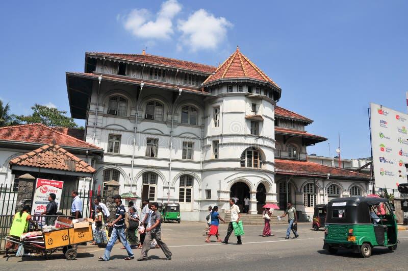 Vue de rue de Kandy image libre de droits