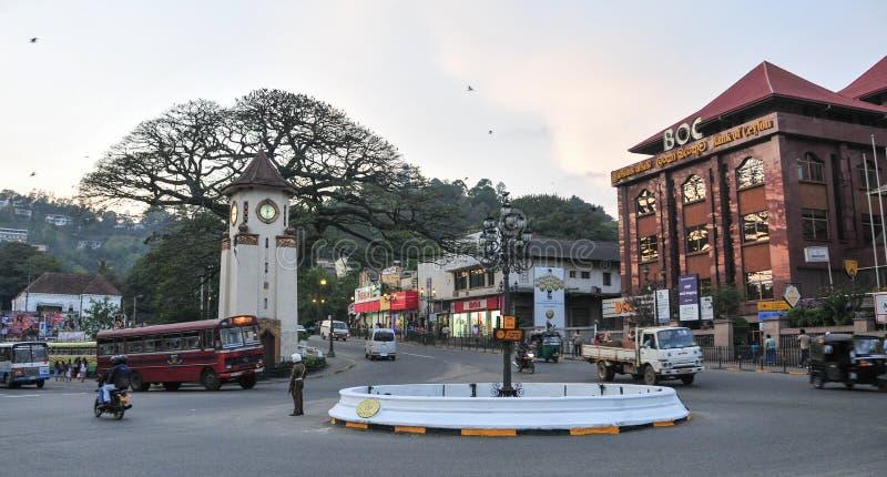 Vue de rue de Kandy photo stock