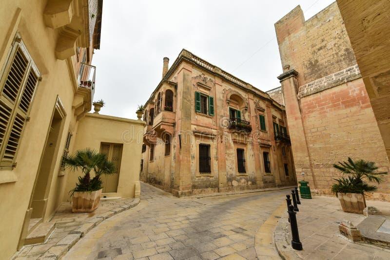 Vue de rue de Mdina, Malte image stock