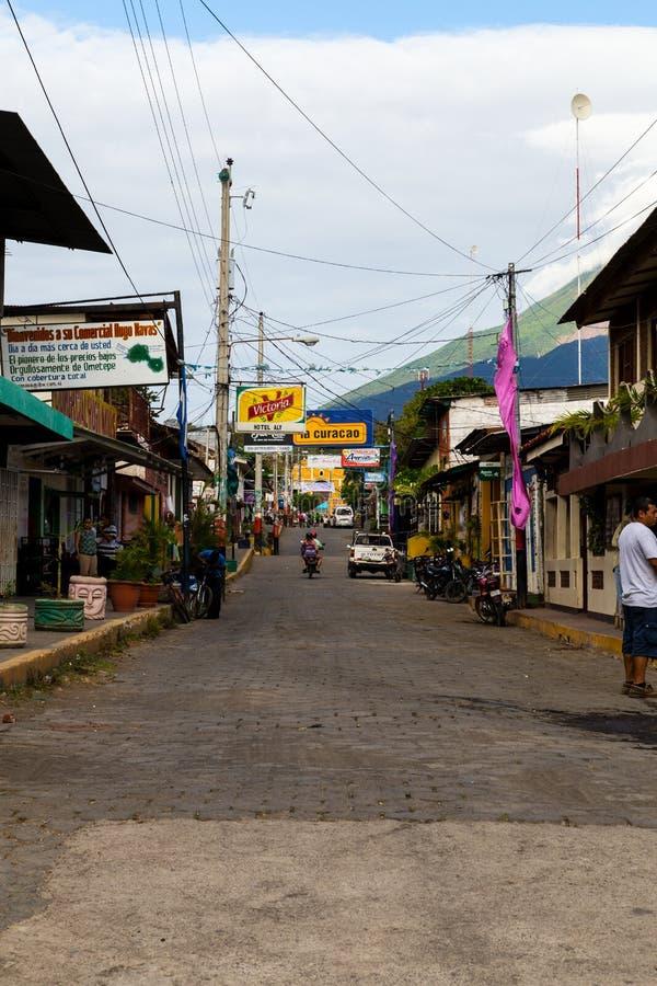Vue de rue de Moyogalpa photographie stock