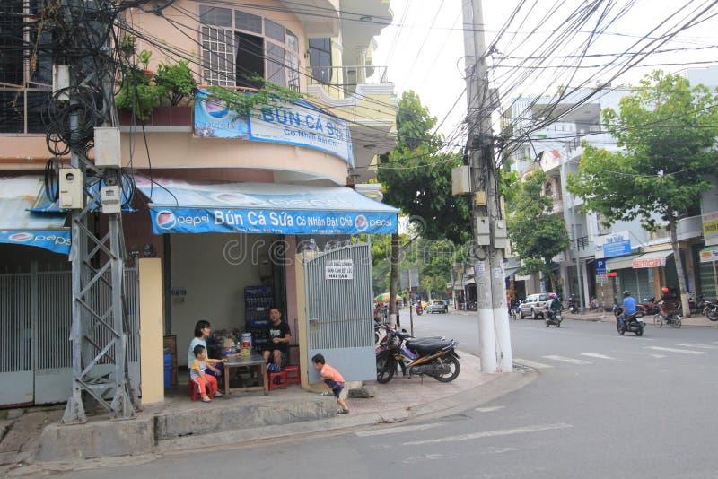 Vue de rue de Nha Trang photographie stock