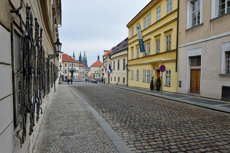 Vue de rue de Prague images libres de droits