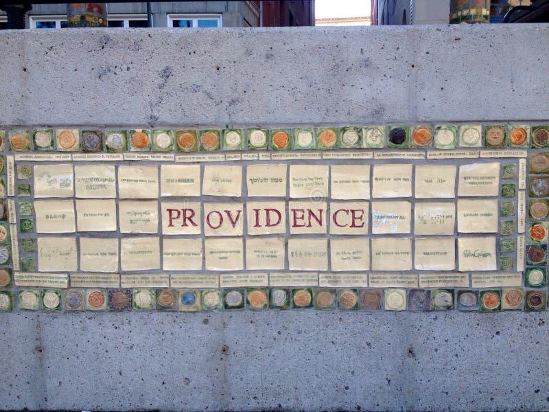 Vue de rue de Providence image libre de droits