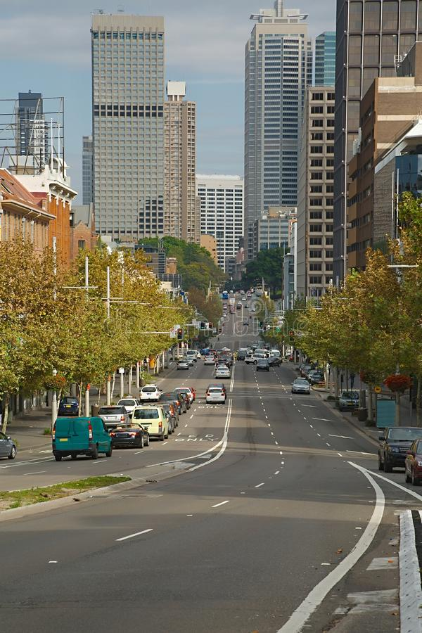 Vue de rue de Sydney photo stock