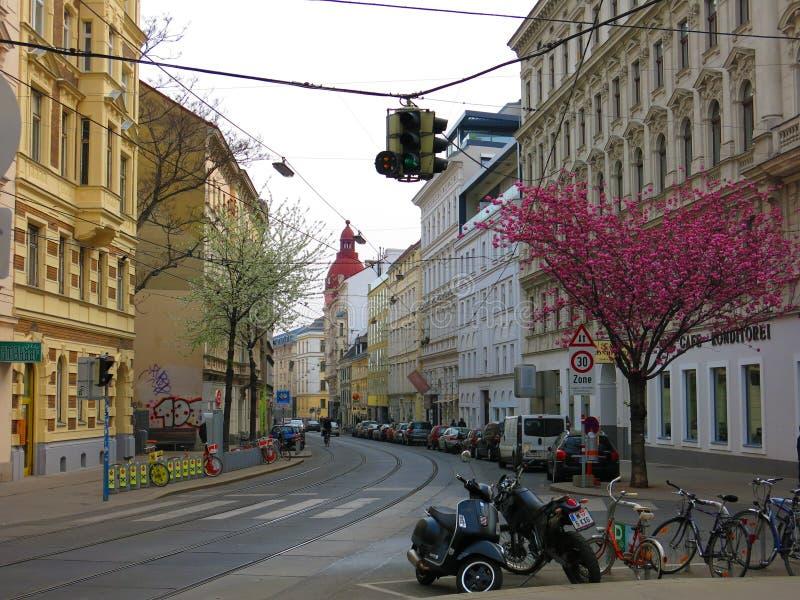Vue de rue de Vienne images stock