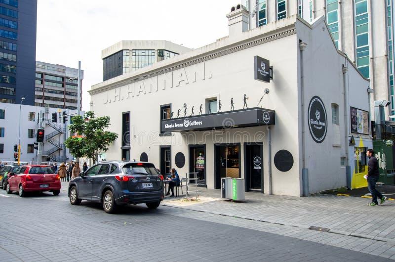 Vue de rue de ville d'Auckland au Nouvelle-Zélande image libre de droits