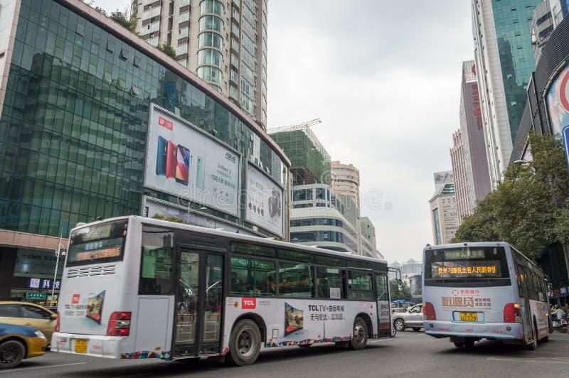 Vue 2 de rue de ville de Guiyang photographie stock