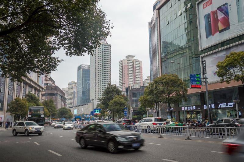 Vue 3 de rue de ville de Guiyang photographie stock libre de droits