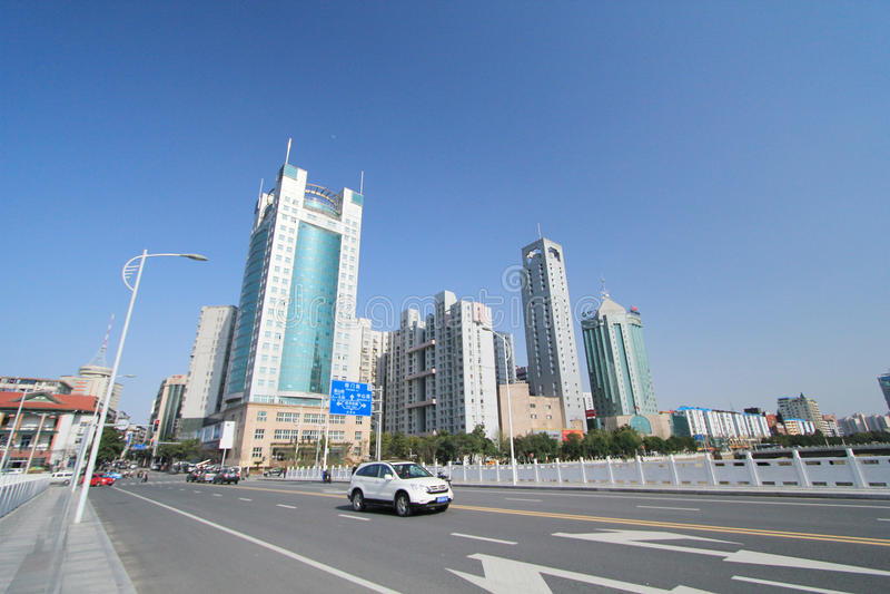 Vue de rue de ville de Nan-Tchang photo stock