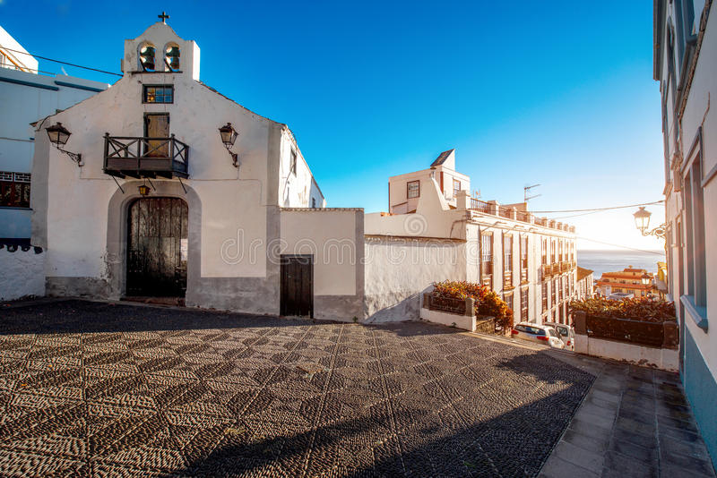 Vue de rue de ville en Santa Cruz de La Palma photo stock