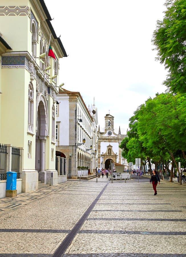 Vue de rue de Faro, Portugal photo libre de droits