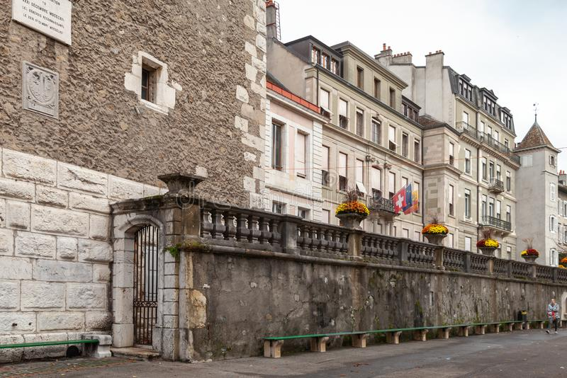 Vue de rue de Gen?ve, Suisse images libres de droits