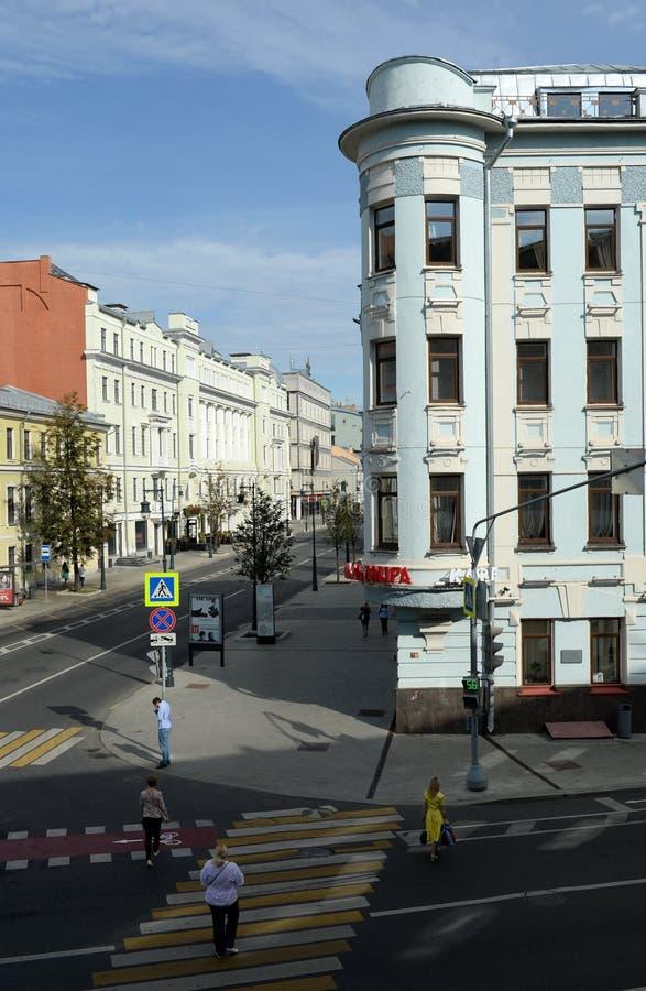 Vue de rue de Malaya Dmitrovka à Moscou photos stock