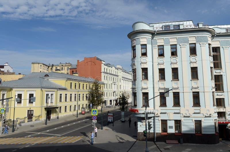 Vue de rue de Malaya Dmitrovka à Moscou photos libres de droits