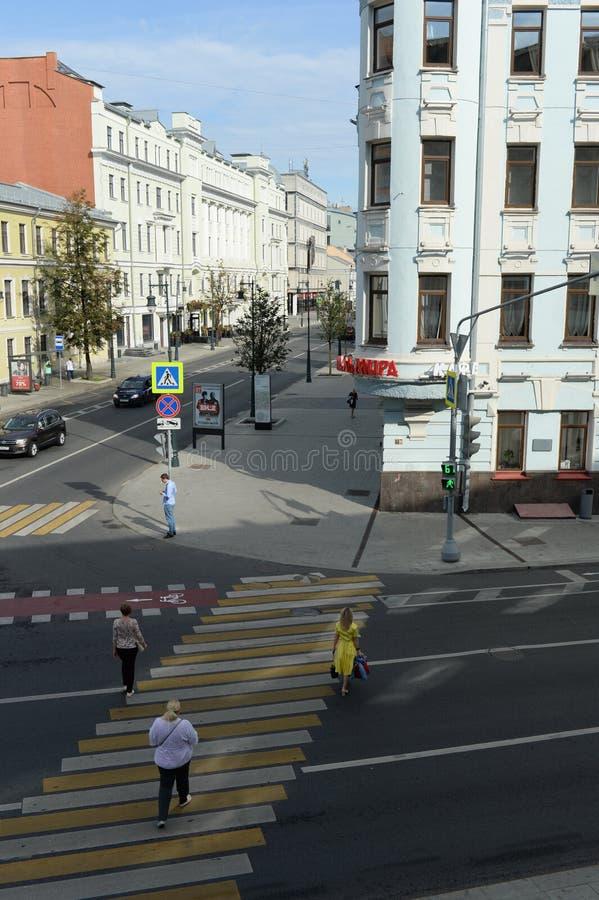 Vue de rue de Malaya Dmitrovka à Moscou photo libre de droits