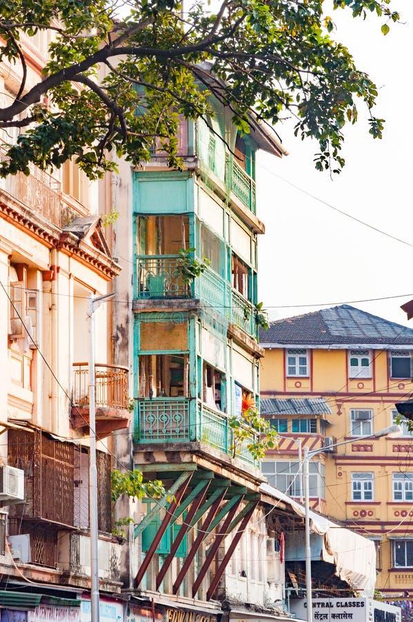 Vue de rue près de Grant Road Mumbai, Inde image stock