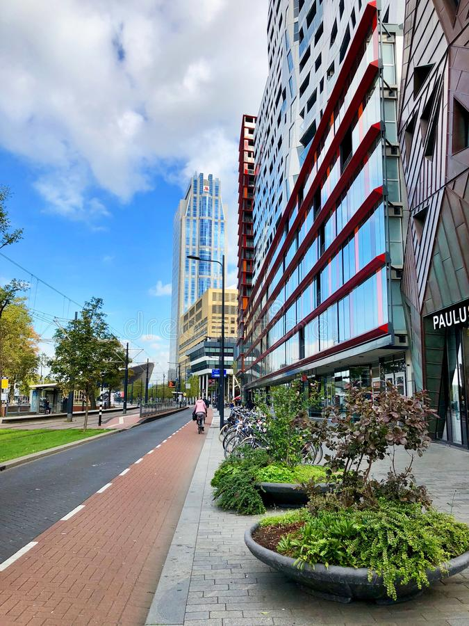 Vue de rue de Rotterdam images stock